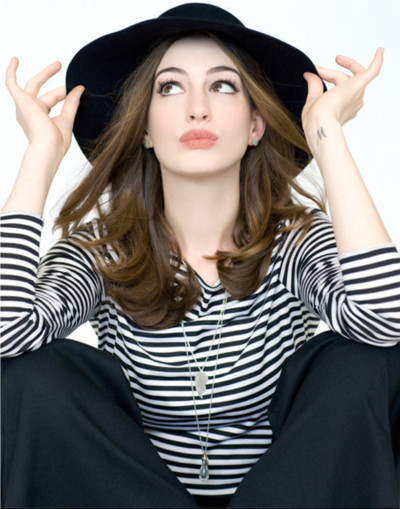 anne hathaway, annie, beautiful, fashion, girl, hair, make