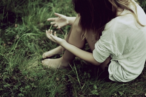 arms, forest, girl, gras, grass