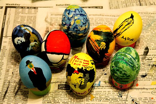 art, awesome, easter, eggs, painted
