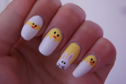 art, bunny, chick, chicken, easter, easter nails, happy, nail, nail art, nail polish, nails, polish, rabbit, separate with comma, spring