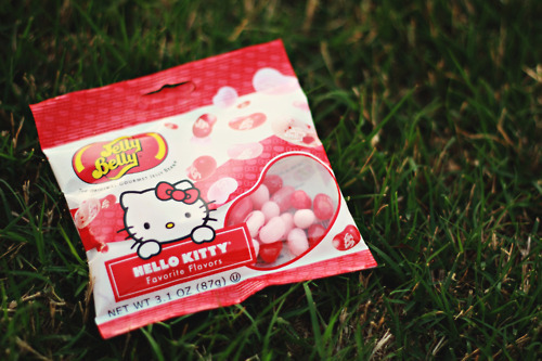 ashleylynphotography, grass, hello kitty, jelly beans, jelly belly, spring