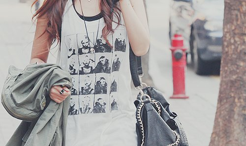 bag, best friend, brunette, faces, fashion