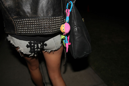 bag, crosses, fashion, leather jacket, legs
