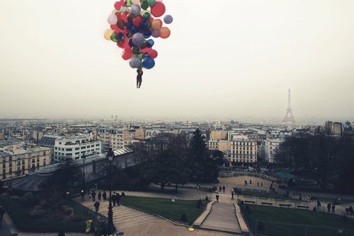 balloons, ballooons, cool, cute, float away, free, freedom, paris, sky