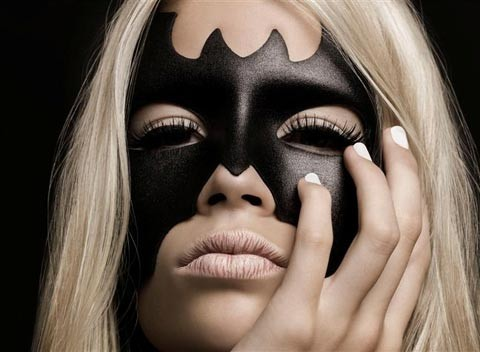 bat man, cute, eye lash, eye lashes, eyes, face paint, lips, make up, nails, pretty, separate with comma, skin, tanned