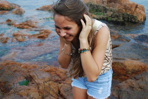 beach, girl, jewellery, nice, ocean
