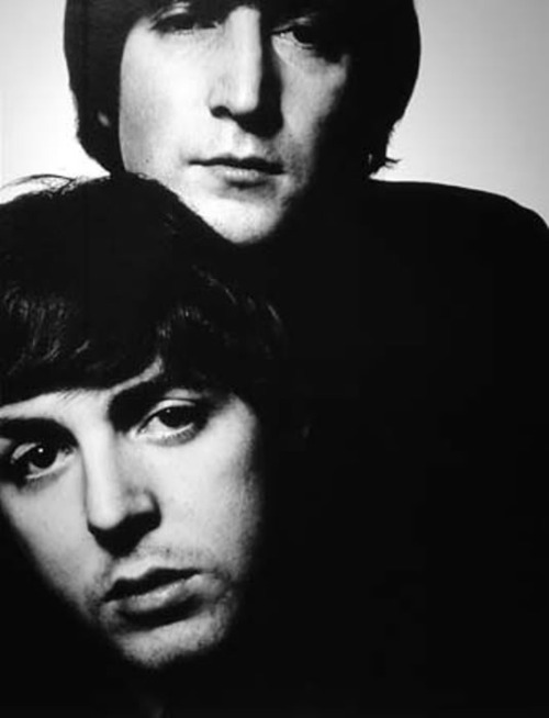 beautiful, black and white, john and paul, john lennon, paul and john