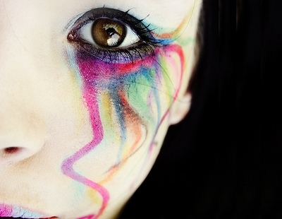 beautiful, colorful, colors, eye, makeup