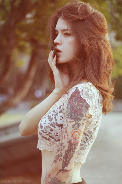 Beautiful cute girl hair tattoo image 208305 on for Hair tattoo for girl