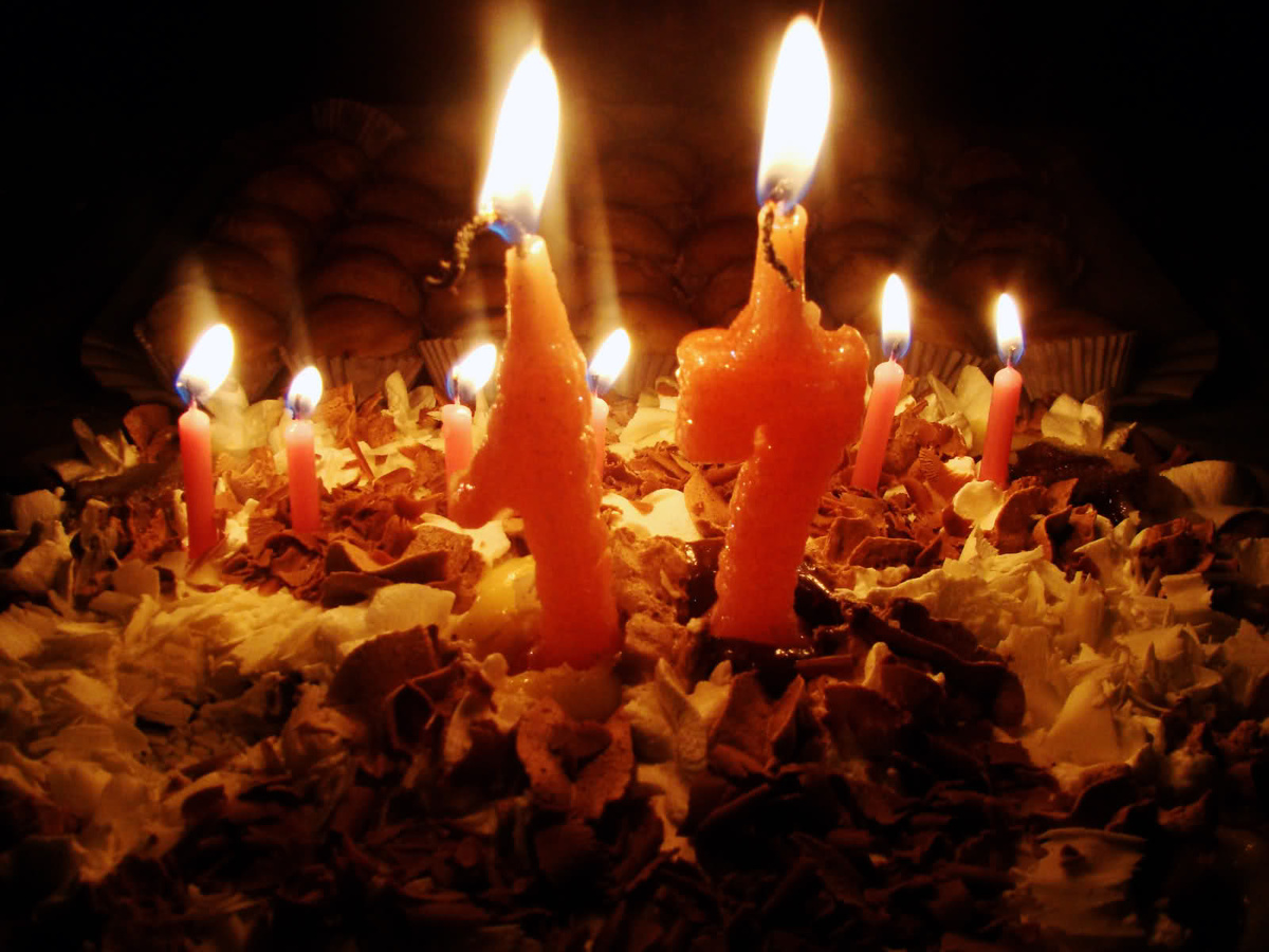 Birthday Cake Candle Fire Light