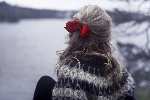 black, blonde, bow, cold, curls