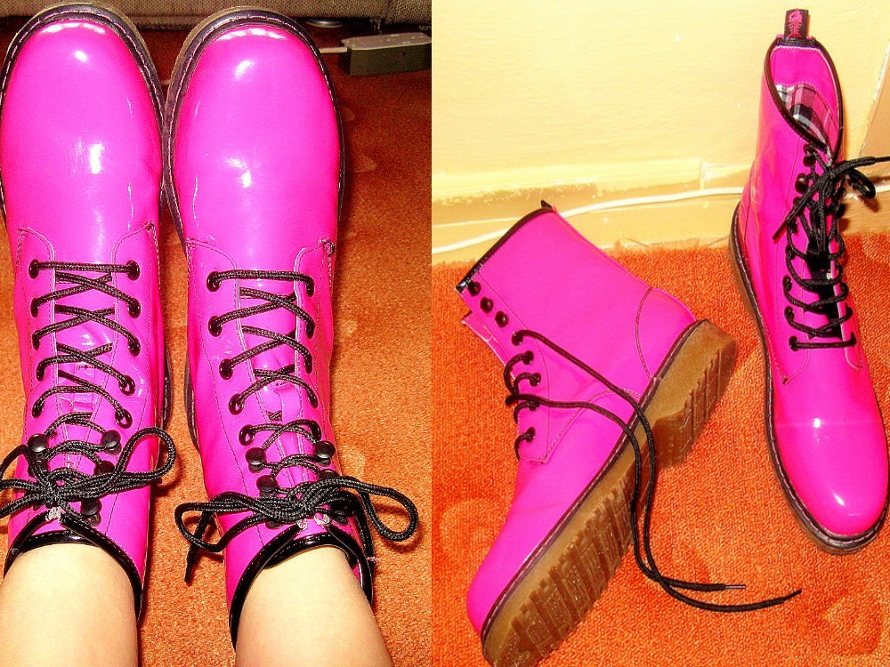 black, boots, pink, ronald mcdonald shoes, ugly