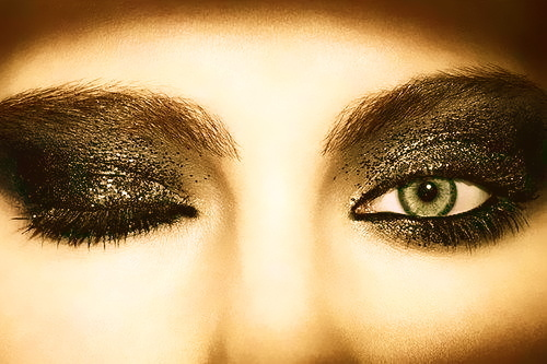 black, eye, eyes, fashion, girl, glitter, make up, makeup, shadow, smokey
