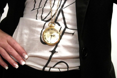 blogger, bracelet, clock, cravings, fashion, french manicure, gould, jewellery