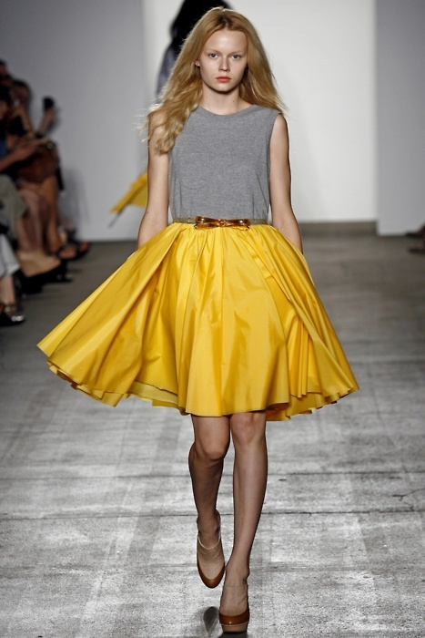blonde, cute, dress, fashion, girl, girly, high heels, sweet, yellow