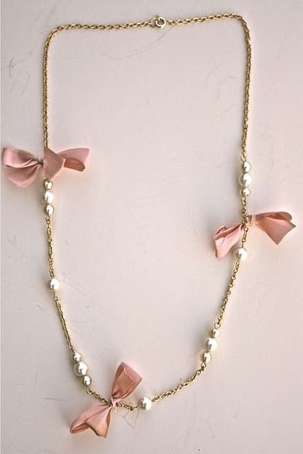 bow, cute, fashion, girly, golden, jewelry, pearls, pink, pretty