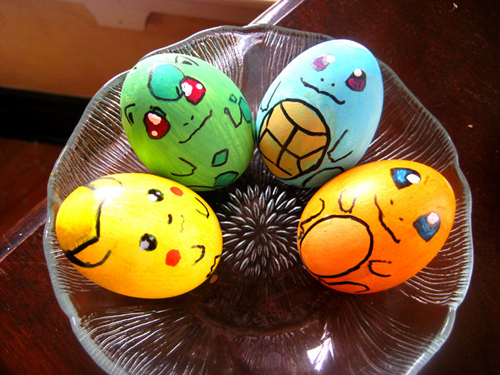 bulbasaur, charmander, easter, easter egg, easter eggs