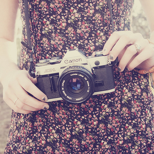 camera, girl, hair, separate with comma