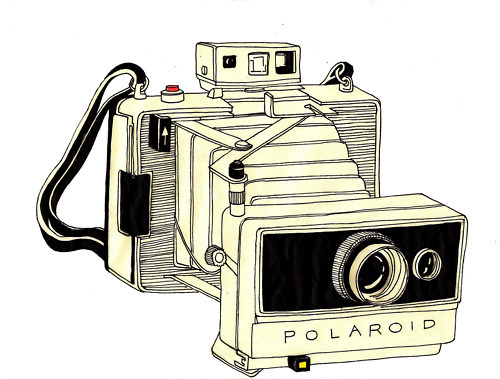 camera, illustration, photo, photography, polaroid