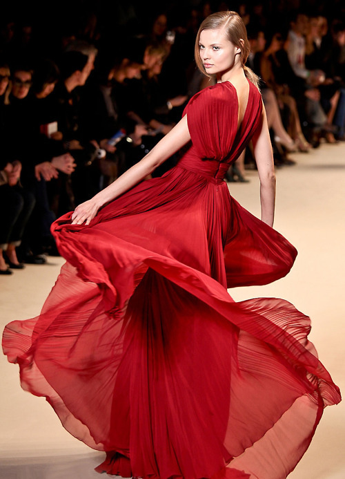 catwalk, dress, fashion, girl, model, red