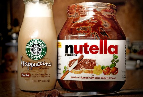 chocolate, coffee, drink, food, frap, nutella, starbucks, want, yummy