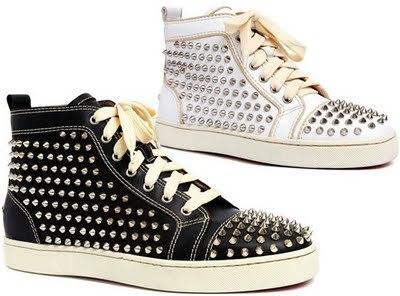 christian louboutin, fashion, louboutin sneakers, shoes, sneakers with spikes, style
