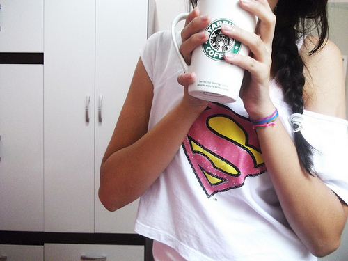 color, cool, fashion, photography, starbucks, superman
