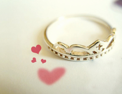 cool, crown, crown ring, cute, heart, ring
