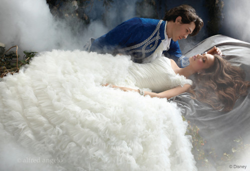 dreamy, dress, fog, prince, princess, true loves kiss
