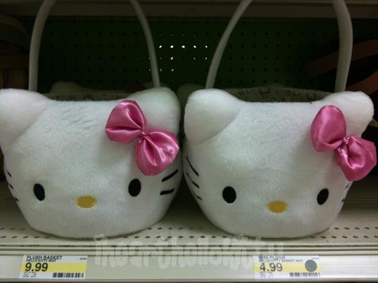 easter, easter basket, hello kitty, pink