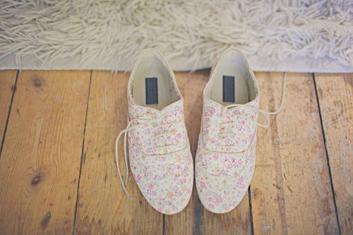 fashion, floral, oxfords, shoes, vintage