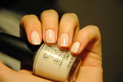 french manicure, make up, nailpolish, opi