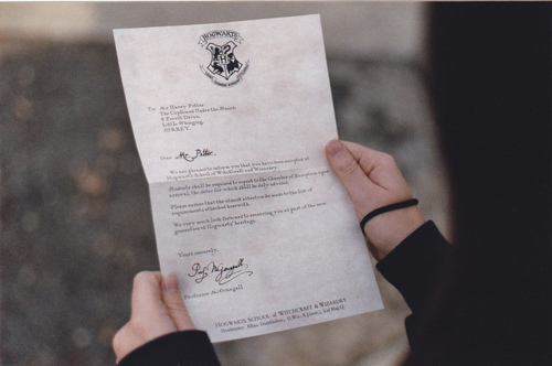 harry potter, hogwarts, letter
