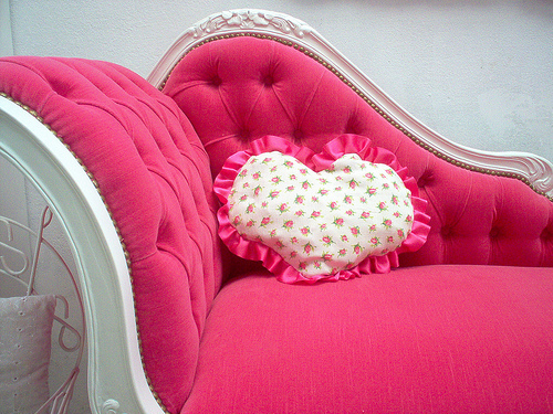 heart, pillow, pink