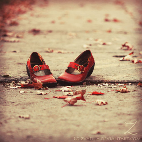 photography, red, shoes, vintage