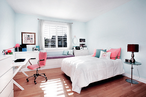 pink pretty room white image 207186 on