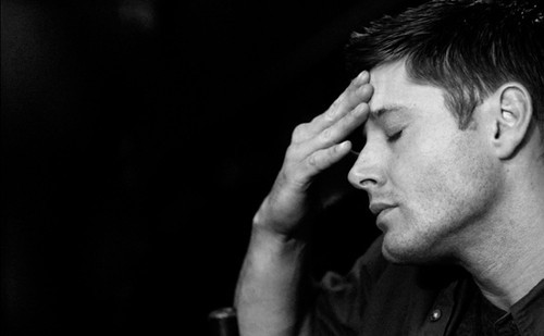 ackles, black, black and white, boy, dean