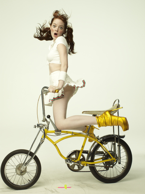 actress, bike, emma stone, funny, girl