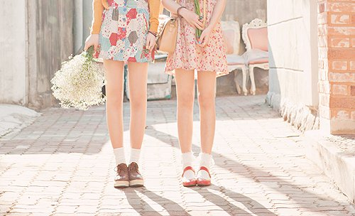 alley, beautiful, bff, bobby socks, bouquet, chairs, cute, fashion, flowers, forever, friends, frilly socks, garden, girls, legs, pastel, photography, shoes, vintage, women