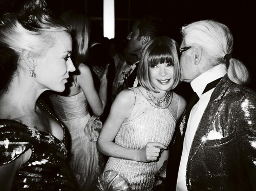 anna wintour, black and white, bow tie, boy, chanel