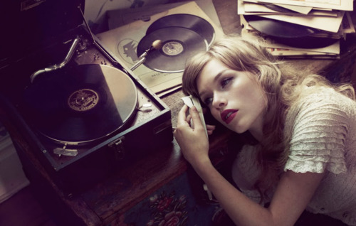art, beautiful, fashion, girl, gorgeous, lovely, model, photography, pretty, record player, skinny, vinyl