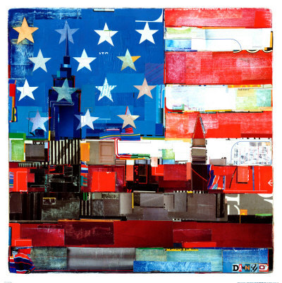 art, landscapes, new york, new york skyline, print