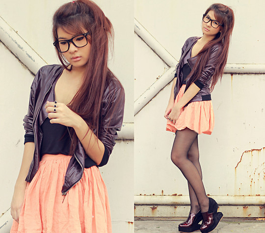 asian, awm, brown hair, clothing, cute, fashion, girl, glasses, hair, lookbook, mode, pretty, shoes, smile, style, stylish, woman
