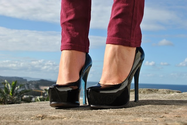australia, maroon, sea, shoes