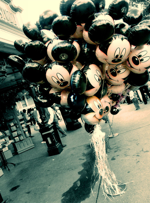 balloon, cute, disney, life, mickey, vintage