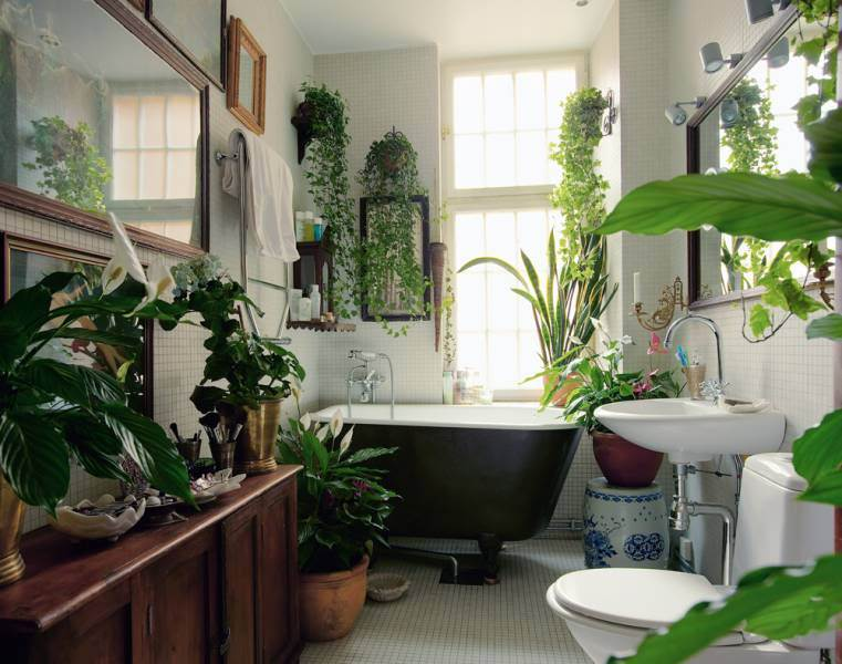 bath, bathroom, design, garden, green