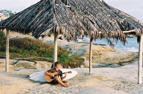 beach, boy, camping, guitar, guy