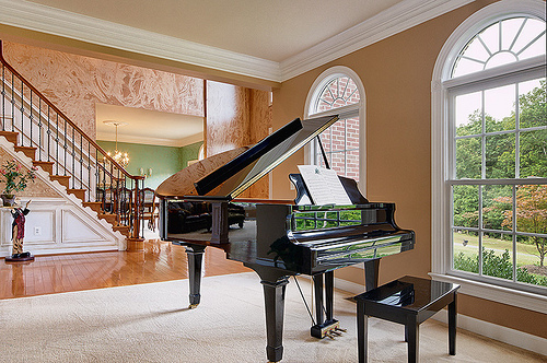 beautiful, building, home, house, piano - image #210765 on Favim com