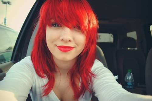 beautiful, cute, girl, hair, lips, nice, pretty, red, red hair, sweet