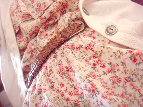 beauty, belt, cardigan, clothes, dress